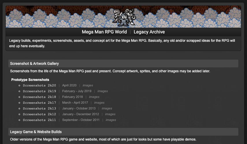 MMRPG Legacy Site