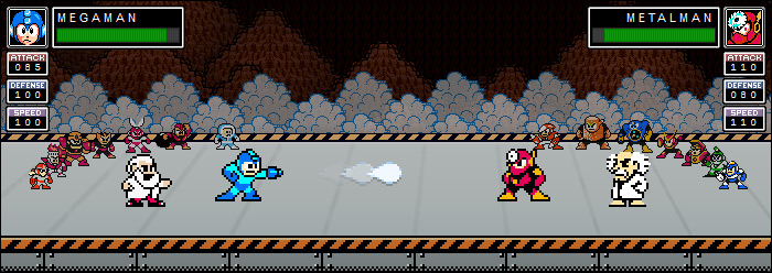 MegaMan RPG Prototype 2012/02/05 : Player Sprites & Animated Backgrounds